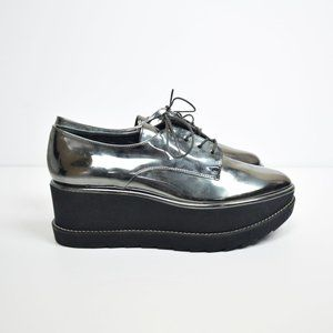Stuart Weitzman Metallic Kent Platform Shoes 7.5